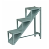 "Stair Step Accent Table H31.50"", Teal Blue"