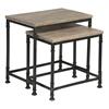 "Bowery Set Of 2 Nesting Tables H24 / 20.5"", Adoor Whitewash Mango"