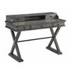 """Five Drawer Desk H35.50"""", Magnet Burnished Grey"""