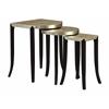 "Set of 3 Nesting Tables H27/25/23"", Cassiar Metallic Gold"