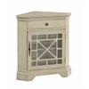 "One Drawer One Door Corner Cabinet H32.50"", Milstone Texture Ivory"