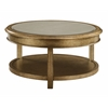 "Bel Air Round Mirror Cocktail H18.00"", Grafton Metallic Gold"