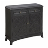 "Two Door Two Drawer Cabinet H36.00"", Emerson Distressed Black"