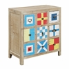"""One Door Three Drawer Chest H30.00"""", Multicolored"""