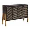 "Four Door Media Sideboard H35.50"", Edison Black Rub"
