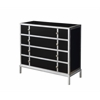 "Four Drawer Chest H34.50"", Earls Court Black"