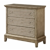 "Three Drawer Chest H32.50"", Eden Metallic"