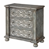 """Three Drawer Chest H32.00"""", Midvale Textured Grey Blue"""