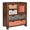 "One Door Four Drawer Cabinet H36.00"", Leela Multicolor"