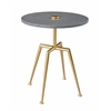 """Accent Table H24.00"""", Sathar Brass"""