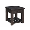 """Raleigh One Drawer End Table H24.00"""", Raleigh Tobacco Brown"""