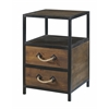 "Two Drawer Accent Table H30.50"", Domingo Natural Brown"