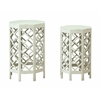 "Set of 2 Nesting Tables H29 / 26.5"", Freeport White Rub"
