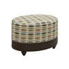 "Oval Ottoman H20.00"", Epson Brown"