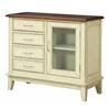 "Four Drawer One Door Cabinet H30.50"", Cabot Cream Rub"