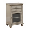 "Two Drawer One Door Cabinet H30.50"", Sabre Grey"