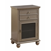 "Two Drawer One Door Cabinet H30.50"", Sabre Metallic"