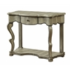 "One Drawer Console Table H33.50"", Burnished Crocodile Textured"