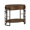 """One Drawer Accent Table H29.00"""", Mission Brown"""