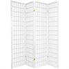 Katy 4 Panel Room Divider - White