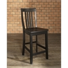 School House Bar Stool in Black Finish with 24 Inch Seat Height. (Set of Two)