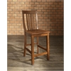 School House Bar Stool in Classic Cherry Finish with 24 Inch Seat Height. (Set of Two)