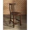School House Bar Stool in Vintage Mahogany Finish with 24 Inch Seat Height. (Set of Two)