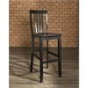 School House Bar Stool in Black Finish with 30 Inch Seat Height. (Set of Two)