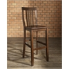 School House Bar Stool in Mahogany Finish with 30 Inch Seat Height. (Set of Two)