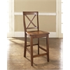 X-Back Bar Stool in Classic Cherry Finish with 24 Inch Seat Height.  (Set of Two)