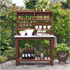 Mesa Zinc Top Indoor / Outdoor Island Buffet and Hutch In Eucalyptus