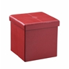 CUBE STORAGE OTTOMAN - RED H15""