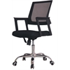 MESH MID BACK OFFICE CHAIR - BLACK H32.3-36.2""
