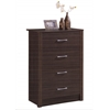 4 DRAWER CHEST - CHOCOLATE H40.3""