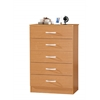 5 DRAWER CHEST - BEECH H47.3""