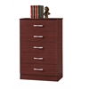 5 DRAWER CHEST - MAHOGANY H47.3""
