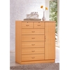 7 DRAWER CHEST W/1 DOOR - BEECH H48.6""