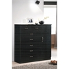 7 DRAWER CHEST W/1 DOOR - BLACK H48.6""