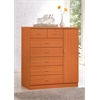 7 DRAWER CHEST W/1 DOOR - CHERRY H48.6""
