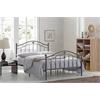 TWIN METAL BED - BLACK-SILVER H43.1""