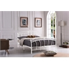 """QUEEN METAL BED - WHITE H38.5"""""""