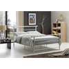 """TWIN METAL BED - WHITE H42.1"""""""