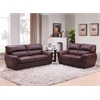 3 SEATER SOFA + 2 SEATER LOVE - BROWN H37""