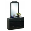 6 DRAWER DRESSER W/MIRROR - BLACK H76""