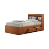 """TWIN CAPTAIN BED W/3 DRAWERS - CHERRY H35"""""""