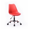 ARMLESS OFFICE CHAIR WITH SEAT CUSHION - RED H29-37""