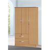 3 DOOR WARDROBE W/2 DRAWERS - BEECH H72""