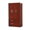 3 DOOR WARDROBE W/2 DRAWERS - MAHOGANY H72""