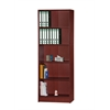 5 SHELF BOOKCASE - MAHOGANY H71.6""
