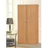 2 DOOR WARDROBE W/HANGING ROD - BEECH H71""